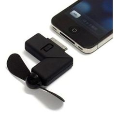 Amazon.com: Black Newest Cool Dock Fan Gadgets Cooler for iPhone 4  Where has this been for all my hot flash moments?!?