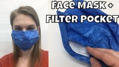How to Sew a Face Mask with Filter Pocket - Fast and Easy DIY Flu Mask - Learn how to sew your own face mask with this free pattern and video sewing tutorial. This mask is - Easy Face Masks, Homemade Face Masks, Diy Face Mask, Masque Facial Diy, Diy Masque, Sewing Hacks, Sewing Tutorials, Sewing Patterns, Sewing Projects