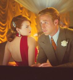 """From """"Gangster Squad"""" - I love Ryan Gosling and Emma Stone"""
