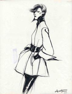Karl Lagerfeld vogue | Karl Lagerfeld by Antonio Vogue France 1972