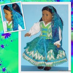 American Girl Doll Halloween Gypsy Costume by CSBSewsDollClothes