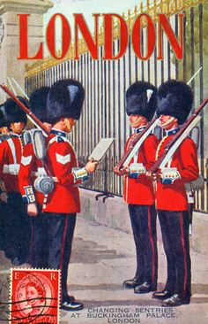 Pedler's postcard, Selfridges, type and rich colours