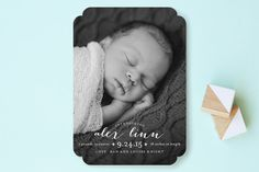 chic baby Birth Announcements by Lauren Chism at minted.com