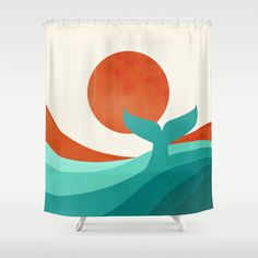 Wave (day) Shower Curtain