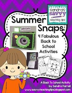My students loved doing all four of the back to school activities in this pack. There's crafts and writing activities for back to school.