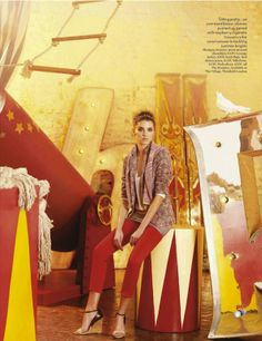 """""""Fashion Circus"""": Starring Angelina Nawojczyk by Kevin Macintosh for Vogue UK"""