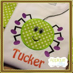 SPIDER Applique Personalized Shirt
