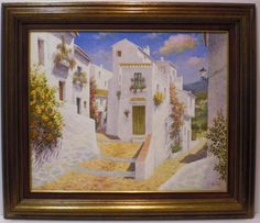 Aguilar : Village. Medium: Oil on canvas Measurements (cm): 94x81 Canvas measurements (cm): 73x60 Interior frame: Yes. Pretty painting in which the artist combines a mastery of colour with the contrast of luminosity.Aguilar is known at national level as a painter, so the purchase of one of his works represents a sure investment.  $597.75
