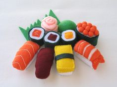 adorable handmade felt sushi set