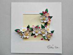 Quilling Paper Flowers Apple blossom Wall art от PaperArtbyAda