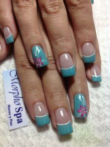 33 Nail Design For Summer 2018 - Inspired Beauty Fancy Nails, Diy Nails, Pretty Nails, Fingernail Designs, Diy Nail Designs, French Tip Nail Designs, Holiday Nails, Christmas Nails, French Tip Nails