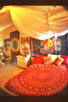 Awesome hippie bedroom