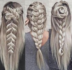 Everything you need to know about braid styles is right here. We talked to stylists for how-to tips to create everything from waterfall braids to fishtail braids. Fancy Hairstyles, Braided Hairstyles, Hairstyle Braid, Gorgeous Hairstyles, Pinterest Hair, Beautiful Braids, Hair Dos, Hair Designs, Hair Hacks
