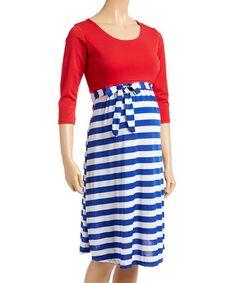 S, Navy Beachcoco Womens Stripe Sash Short