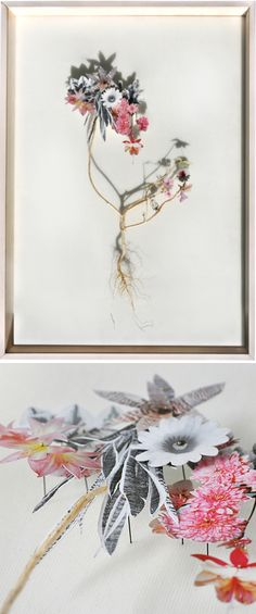 Whoa. Utrecht based artistAnne Ten Donkelaar is taking cut flowers to an entirely new level! This amazing series of paper-cut collage is titled, Flower Constructions. I love the crazy combination of plants & flowers, and the mixture of color & greyscale. Gor.geo.ous. Beautiful, meticulous… and, they'll never wilt!
