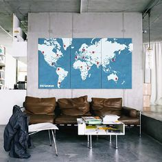 Cartographic Decoration for Walls