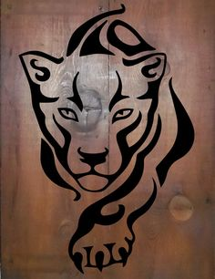 Simple Tribal Jaguar on Reclaimed Barn Wood por TKreclaimedART Stencil Art, Stencil Designs, Jaguar Tattoo, Wood Logo, Wood Burning Patterns, Scroll Saw Patterns, Tribal Art, Tribal Lion Tattoo, Reclaimed Barn Wood