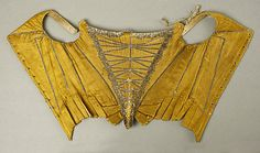 Corset  Date: late 17th–early 18th century Culture: French Medium: [no medium available] Dimensions: [no dimensions available] Credit Line: Purchase, Irene Lewisohn Bequest, 1975 Accession Number: 1975.34.2a–c