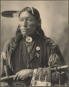 NA Indian - Little Bird, Arapahoe photographed by F.A. Rinehart. (c.1898).