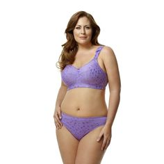 4e9dc17ededb3 Wirefree full coverage jacquard embroidered bra by Elila ®