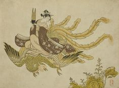 Suzuki Harunobu, 'Young Woman Riding a Phoenix', 1765