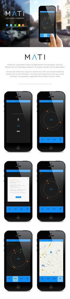 Nice integration of web and UI design. MATI by Pierre Antoine Coupu, via Behance *** Cultural Compass Interactive Web Design Mobile, Web Mobile, Web Ui Design, Web Design Company, Design Design, Mobiles, Ui Design Inspiration, Ui Web, Application Design
