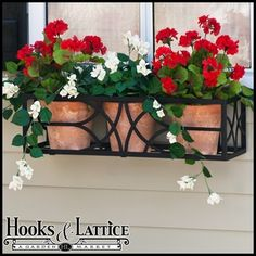 Want this window box with the pots....not the flowers though...