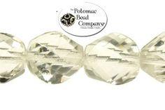 Czech fire polished chiseled faceted ovals.  Potomac Bead Company, Medina Ohio