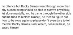 full offense- Bucky Barnes is a hero and if you can't understand that you have severe comprehension issues