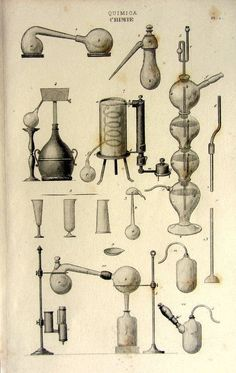 Antique french chemistry laboratory print by LyraNebulaPrints Science Equipment, Lab Equipment, Foto Transfer, Grandeur Nature, Chemistry Labs, Vintage Medical, Science Art, Mad Science, Science Fiction
