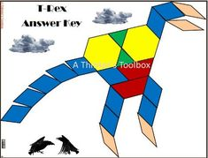 Pattern Blocks Dinosaur Puzzles Activities For Early Grades