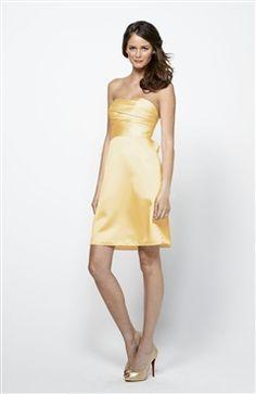 Sleeveless A-line Yellows Short Strapless #Bridesmaid #Dress Style Code: 07467 $69
