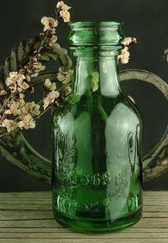 Pretty green bottle