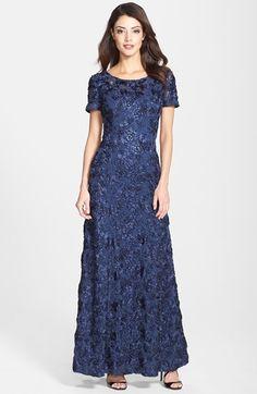 Alex Evenings Sequin & Soutache Lace Gown available at #Nordstrom