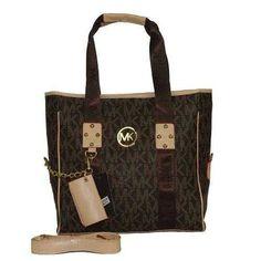 Michael Kors Jet Set Multifunction Medium Coffee Shoulder Bags