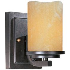 "Maxim Luminous 5"" Wide Rustic Ebony Sconce"