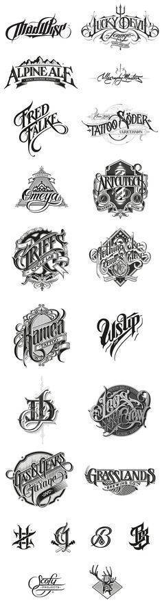 Hand-drawn logotypes, marks, and custom letterings by Martin Schmetzer. Martin Schmetzer is a Stockholm, Sweden based artist and graphic designer focusing: