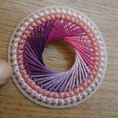 string art on plastic stitch canvas