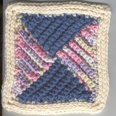 A nice boys afghan would be using the colors light blue, light green, and ecru. This one I might try! Four Triangles Square   AllFreeCrochetAfghanPatterns.com