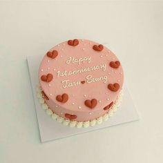 Anniversary Cake Designs, Happy Anniversary Cakes, Pretty Birthday Cakes, Pretty Cakes, Birthday Cake Decorating, Cake Decorating Tips, Cupcakes, Cupcake Cakes, Cake For Boyfriend