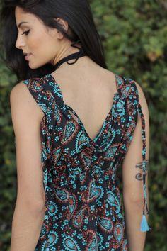 Vestido Curto Topazio Henna