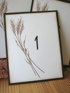 Harvest Wheat Wedding Table Numbers Fall Table by CharonelDesigns, $30.00
