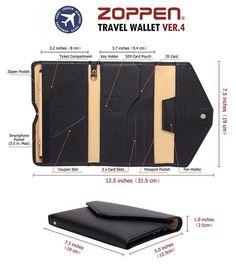 Amazon.com | Zoppen Mulit-purpose Rfid Blocking Travel Passport Wallet (Ver.4) Tri-fold Document Organizer Holder, Grey | Passport Wallets