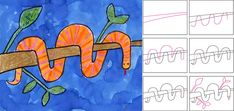 Art Projects for Kids: Wrap Around Snake Overlapping, foreground, background