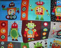 MadieBs coloré Robots crèche Toddler feuille Set nouveau w/nom sur taie d'oreiller