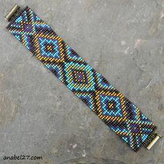 """Схема браслета """"Сказки Востока"""" - станочное ткачество   - Схемы для бисероплетения / Free bead patterns -"""