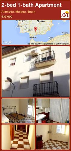 2-bed 1-bath Apartment in Alameda, Malaga, Spain ►€33,000 #PropertyForSaleInSpain