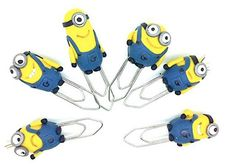Miniature Minions Paperclips in Polymer clay by SmallIdea on Etsy