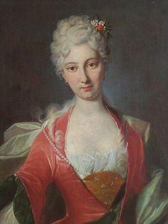 1710 Johann Rudolf Huber - Portrait of an unknown lady