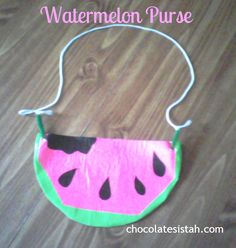 Duct Tape Watermelon Purse